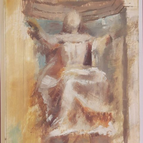 Teresa Cami pintura obra detalle Poblet