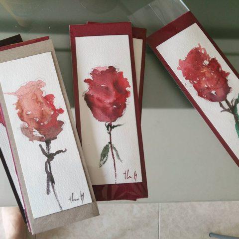 Teresa Cami pintura punts de llibre