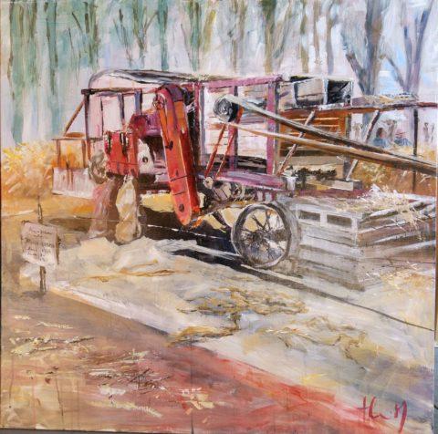 Teresa Cami pintura rapida obra La Fuliola