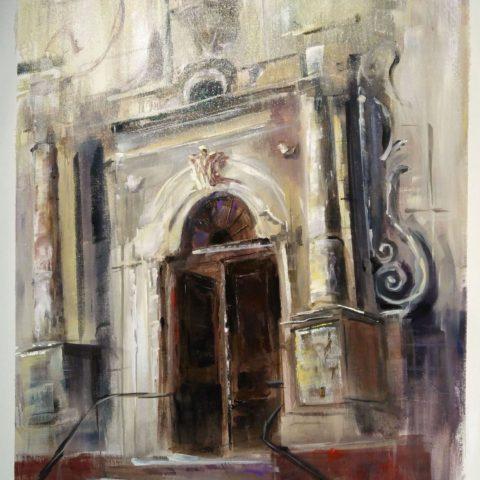 Teresa Cami pintura rapida obra Alcoletge