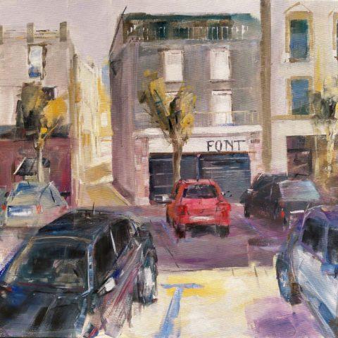 Teresa Cami pintura rapida obra Mollerusa