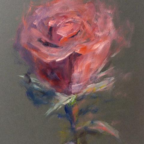 Teresa Cami pintura rosa vermella