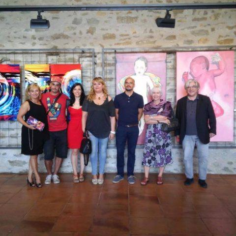 Teresa Camí colectiva pintura Montesquiu Barcelona