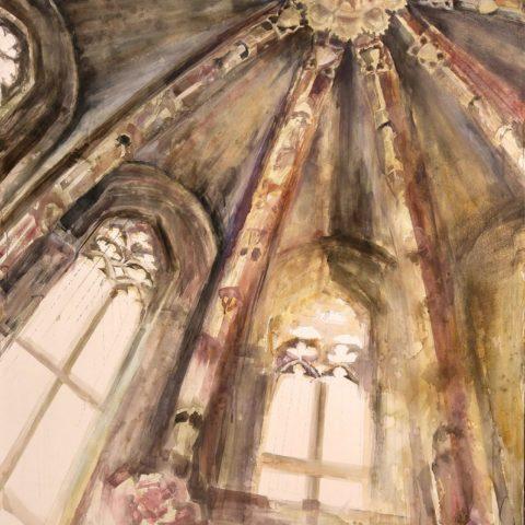 Teresa Cami acuarela watercolor Capella de l´Epifania