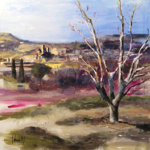 Teresa Cami pintura rapida Aitona