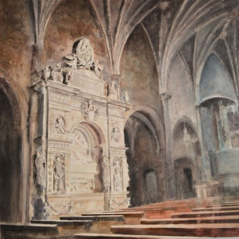 Teresa Cami acuarela Sant Nicolau de Bellpuig