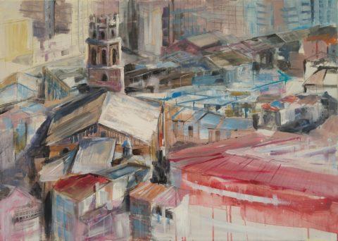 Teresa Cami pintura rapida a Monzon