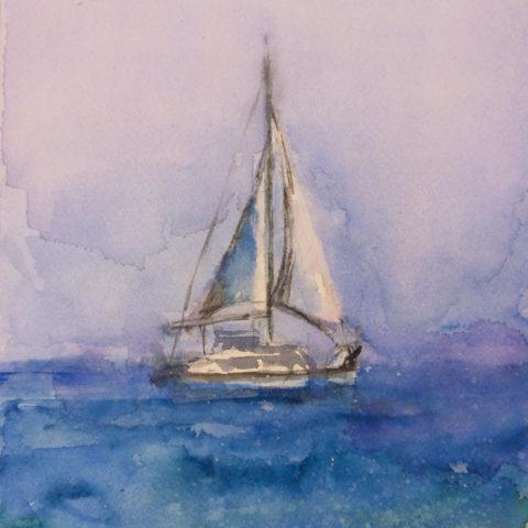 watercolour acuarela teresa cami contra vent i marea