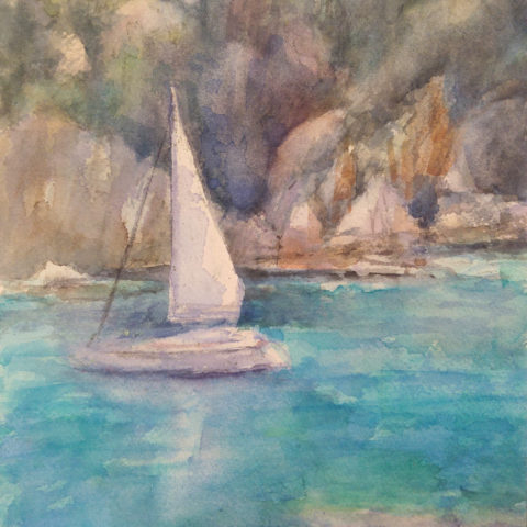 teresa cami watercolour boat